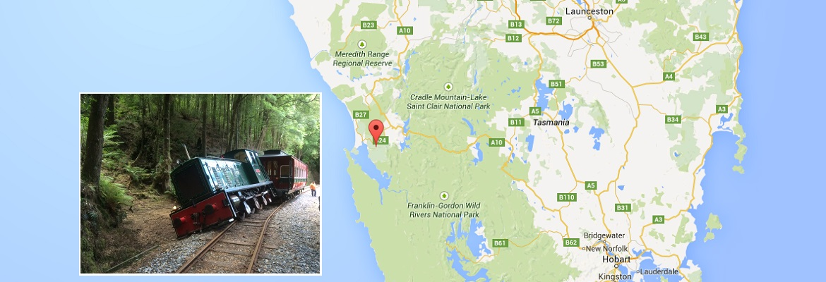Tasmania derailment. Photo: Google / West Coast Wilderness Railway