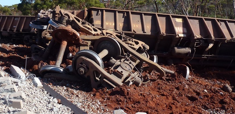 iron ore derailment - Photo ATSB