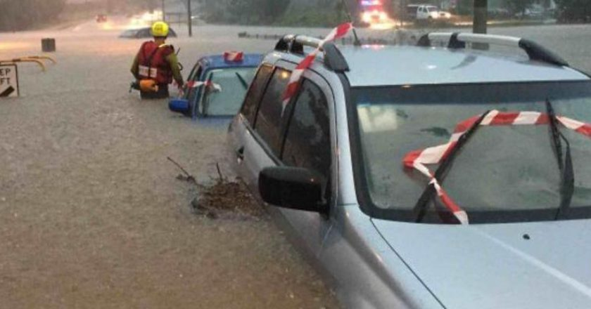 Queensland flooding. Photo: Queensland Fire and Emergency Services - QFES / Facebook
