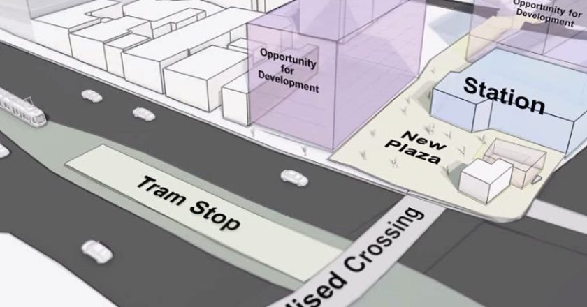 Burke Street level crossing removal. Graphic: VicRoads