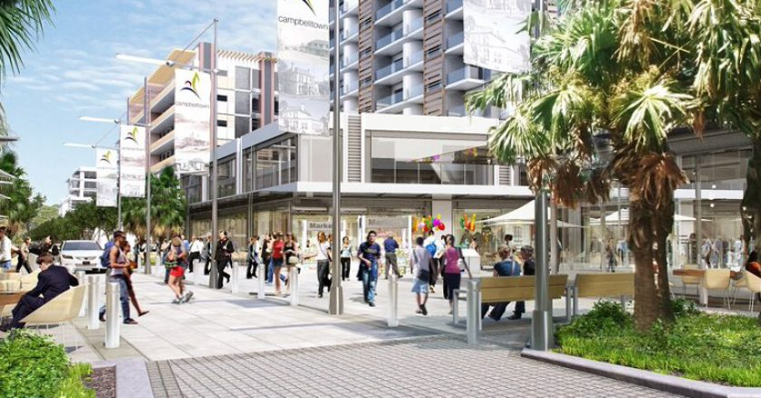 Campbelltown station future. Graphic: Department of Planning and Environment