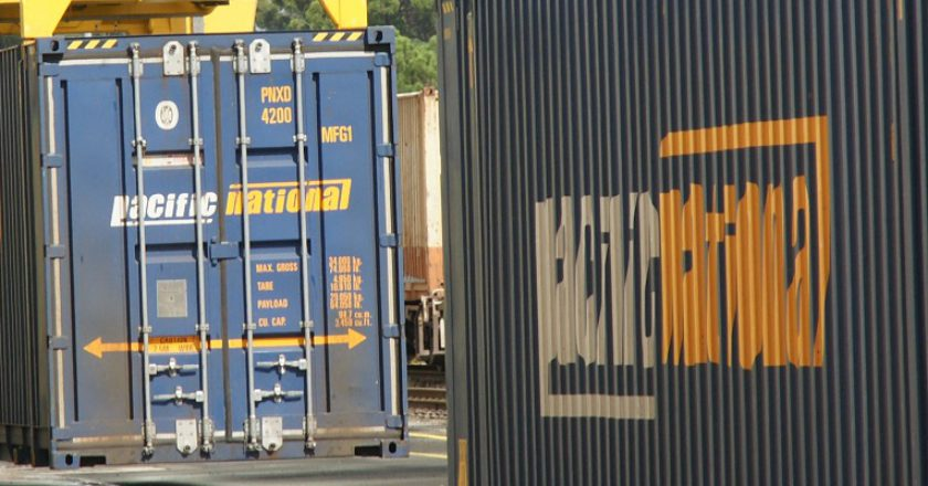 Pacific National container. Photo: Cameron Boggs