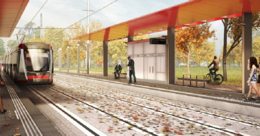 Sydney light rail. Artist's impression: Transport for NSW