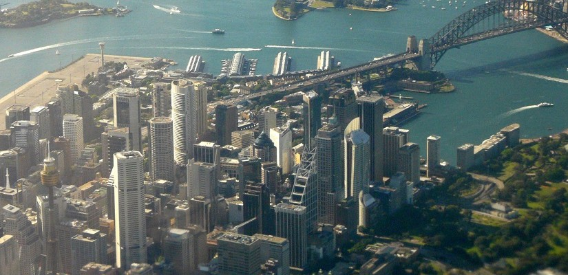 Sydney from the air. Photo: Southern Cross Maritime / Chris Mackey