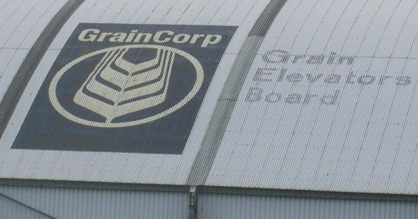 A GrainCorp shed at the Port of Portland. Photo: David Sexton