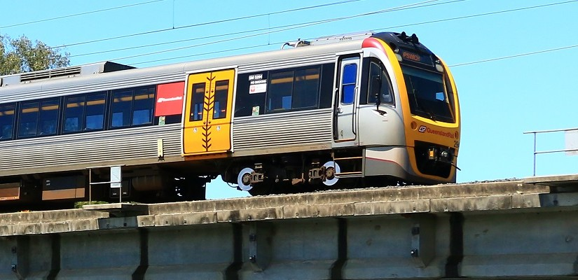 Queensland Rail train. Photo: RailGallery.com.au