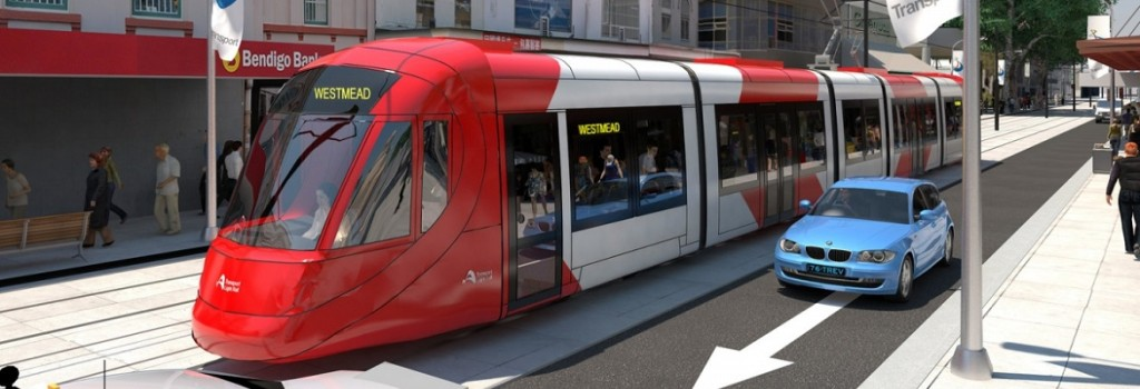 Western Sydney light rail. Artist's Impression: Transport for NSW