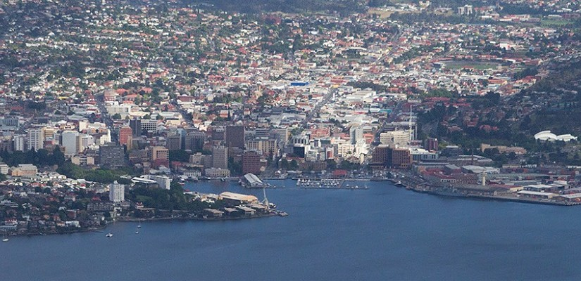 Hobart from the air. Photo: Creative Commons / JJ Harrison