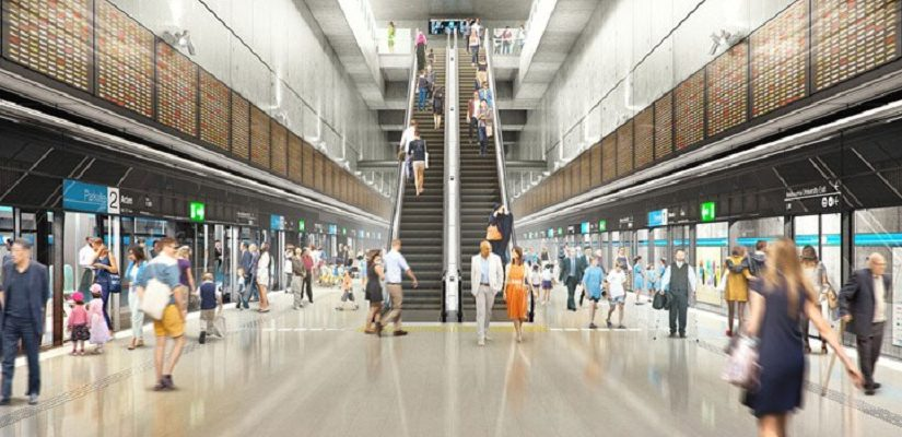 (Indicative image only) Artist's impression: Melbourne Metro Rail Authority