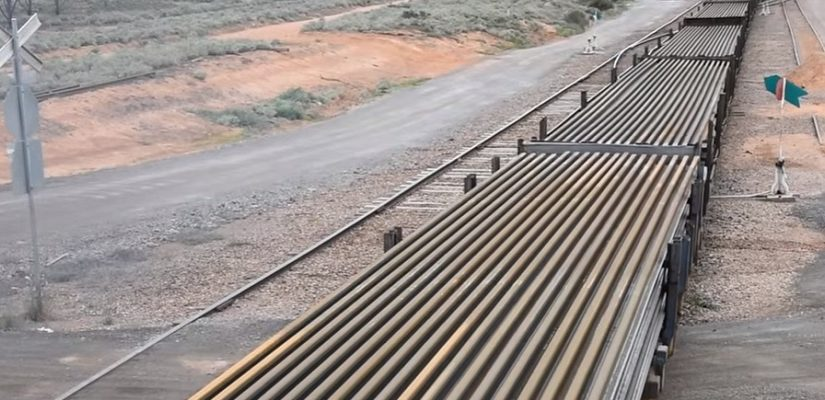 Steel rails leaving Arrium facility at Whyalla. Photo: Arrium