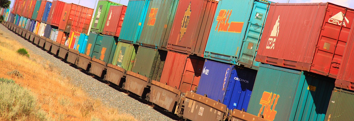 Intermodal double-stacked containers. Photo: RailGallery.com.au