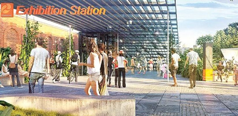 Cross River Rail, proposed Exhibition Station. Graphic: Cross River Rail Delivery Authority