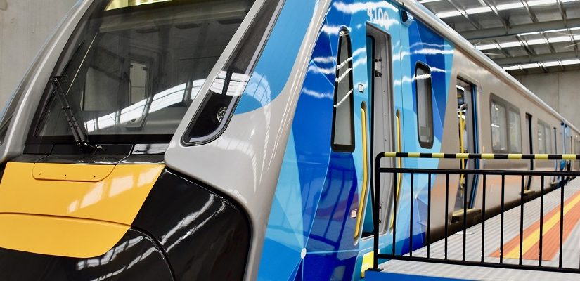Mock-up HCMT train. Photo: Economic Development, Jobs, Transport and Resources, Victorian Government