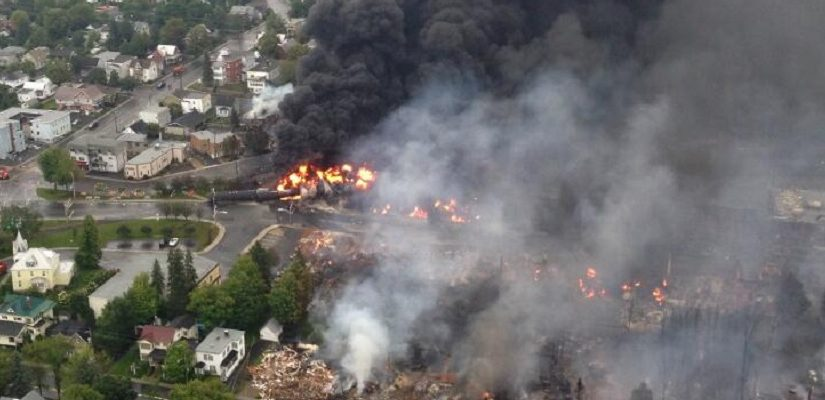 Lac megantic rail disaster. Photo: Sûreté du Québec