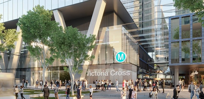 Sydney Metro Victoria Cross Station. Graphic: Transport for NSW