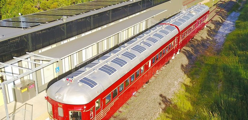 Solar train. Photo: Byron Bay Railroad Company
