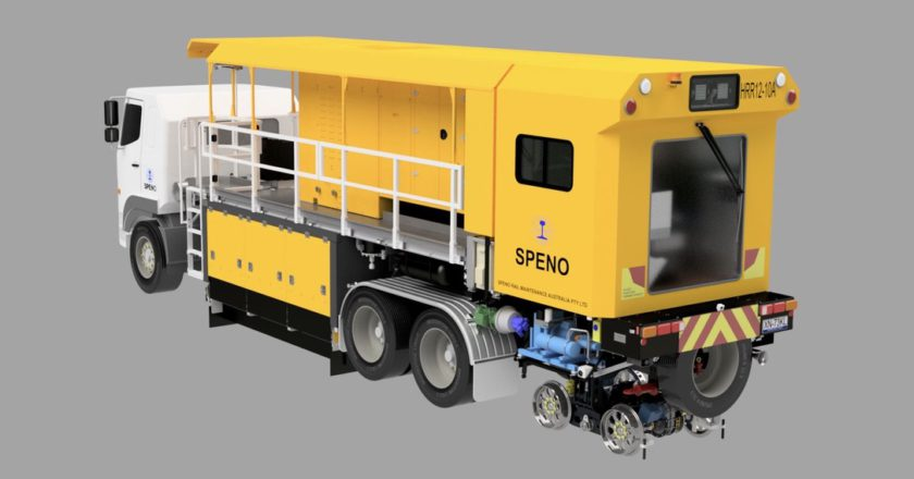 Speno truck-based utility switch grinder
