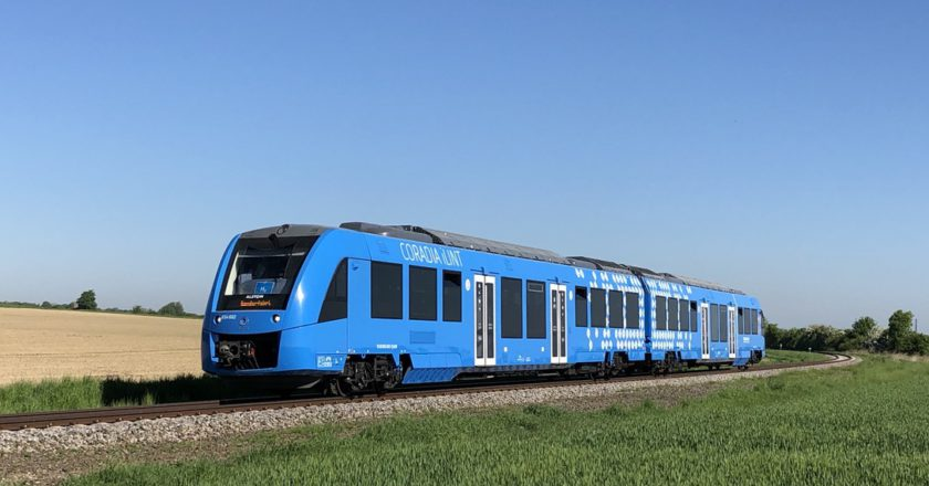 The hydrogen-powered Coradia iLint.
